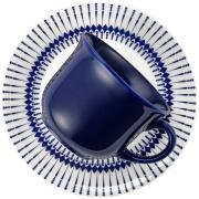 Xícara de Chá Colb de Cerâmica 200ml com Pires Azul Escuro - Oxford