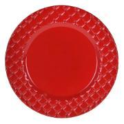 Sousplat Redondo de Plástico 33cm Vermelho 44614-009 - G.Presentes