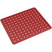 Imagem de Tapete para Pia Plástico 32,8x27,8cm Vermelho Bold - Coza