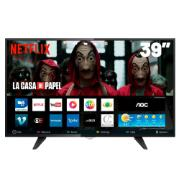 """Smart TV LED 39"""" AOC HD LE39S5970 2 HDMI 1 USB"""