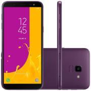 """Smartphone Samsung J6 Dual Chip Tela 5,6"""" Octa Core 64GB 4G Wi-Fi Câmera de 13MP - Violeta"""