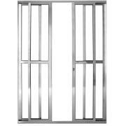 Imagem de Porta Balcão de Alumínio 4 Folhas 210cm x 200cm Prata - Prado