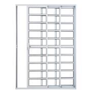 Imagem de Porta Balcão de Alumínio 3 Folhas 210cm x 150cm Branca - Prado