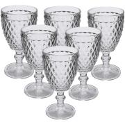 Jogo de Taças para Vinho de Vidro 6 peças 300ml Transparente - Casa Ambiente