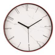 Imagem de Relógio de Parede Plástico 30cm Rosé 10088 - Mart