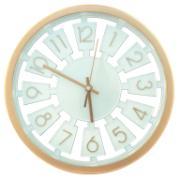 Imagem de Relógio de Parede Redondo 33cm Verde Claro - Imporiente