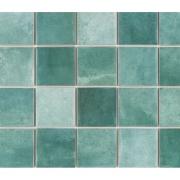 Imagem de Revestimento Noronha Jade Mesh Brilhante Craquelada 7,5x7,5cm 1,59 m²  Verde - Eliane