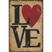 Placa Decorativa em MDF 30x20 cm Love 68636 - Kapos