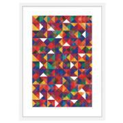 Imagem de Quadro Decorativo 73x53 cm Geométrico Branco 540932 - Euroquadros