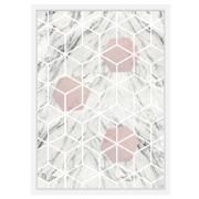 Quadro Decorativo 73x53 cm Geométrico Branco 540963 - Euroquadros