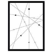 Quadro Decorativo 73x53 cm Geométrico Preto 541069 - Euroquadros
