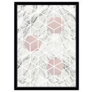 Imagem de Quadro Decorativo 73x53 cm Geométrico Preto 541113 - Euroquadros