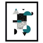Quadro Decorativo 53x43 cm Abstrato Preto 540826 - Euroquadros
