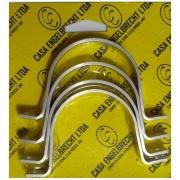 """Imagem de Abraçadeira de Alumínio Tipo U  2"""" 60mm - 4 Unidades - Engelbrecht"""
