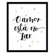 Imagem de Quadro Decorativo 53x43 cm O Amor Está no Lar Preto 540512 - Euroquadros