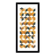 Imagem de Quadro Decorativo 73x33 cm Geométrico Preto 540475 - Euroquadros