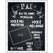 Imagem de Quadro Decorativo Porta Foto 40x30 cm Pai Preto -  Art Frame