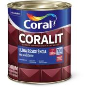 Tinta Esmalte Sintético Acetinado Premium 0,9L - Branco Neve - Coralit Coral