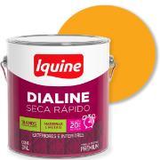 Tinta Esmalte Sintético Alto brilho Premium 3,6L - Amarelo - Dialine Iquine