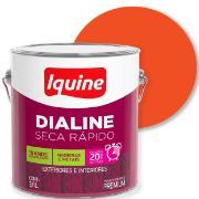 Tinta Esmalte Sintético Alto brilho Premium 3,6L - Laranja - Dialine Iquine