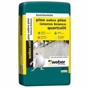 Argamassa Piso/Piso Interno Branco 20kg - Quartzolit