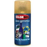 Tinta Spray Brilhante Glitter Interno - Ouro - 100ml - Colorgin