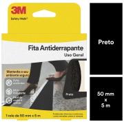 Fita Adesiva Antiderrapante Preto 50mm x 5m 1 Unidade - 3M