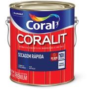 Tinta Esmalte Sintético Brilhante Premium 3,6L - Branco Neve - Secagem Rápida Coral