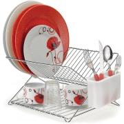 Imagem de Escorredor de Louças de Aço Inox Cromado 14 Pratos Prata - Arthi