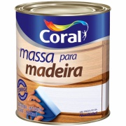 Massa Para Madeira - Branco Neve - Quarto 0,9L 1,500Kg - Coral