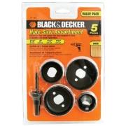 Kit Serra Copo Aço carbono - 5 Peças - Black&Decker 71-120  A