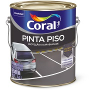 Tinta Acrílica Fosco Premium 3,6L - Cinza Médio - Coralpiso Coral