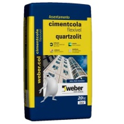 Imagem de Argamassa ACIII Cimentcola Flexível 20kg - Quartzolit
