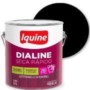 Tinta Esmalte Sintético Alto brilho Premium 3,6L - Preto - Dialine Iquine