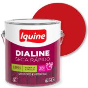 Tinta Esmalte Sintético Alto brilho Premium 3,6L - Vermelho - Dialine Iquine