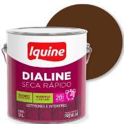 Imagem de Tinta Esmalte Sintético Alto brilho Premium 3,6L - Marrom Tabaco - Dialine Iquine