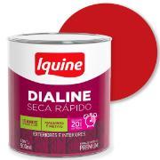 Tinta Esmalte Sintético Alto brilho Premium 0,9L - Vermelho - Dialine Iquine