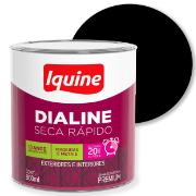 Tinta Esmalte Sintético Alto brilho Premium 0,9L - Preto - Dialine Iquine