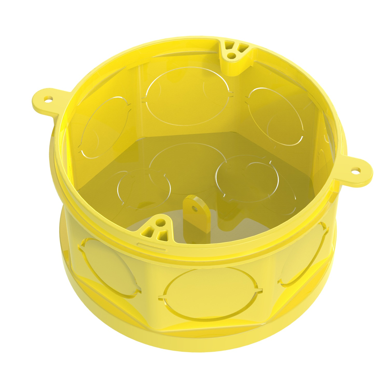 Caixa Eletrica de Plastico 4x4 Amarela Octogonal Fundo Movel Tigreflex - Tigre