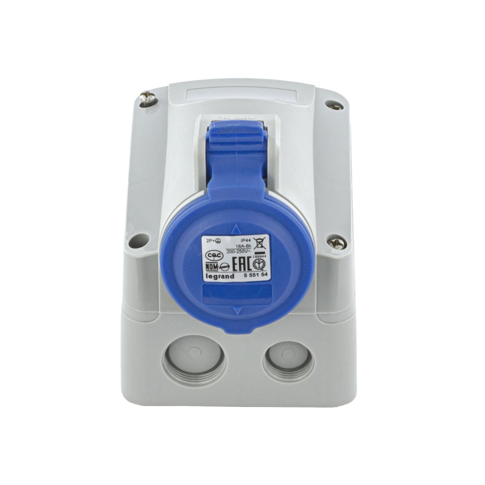 Tomada Industrial de Sobrepor P17 2PT 16A Tempra IP44 Monofasico 220250V - Cemar