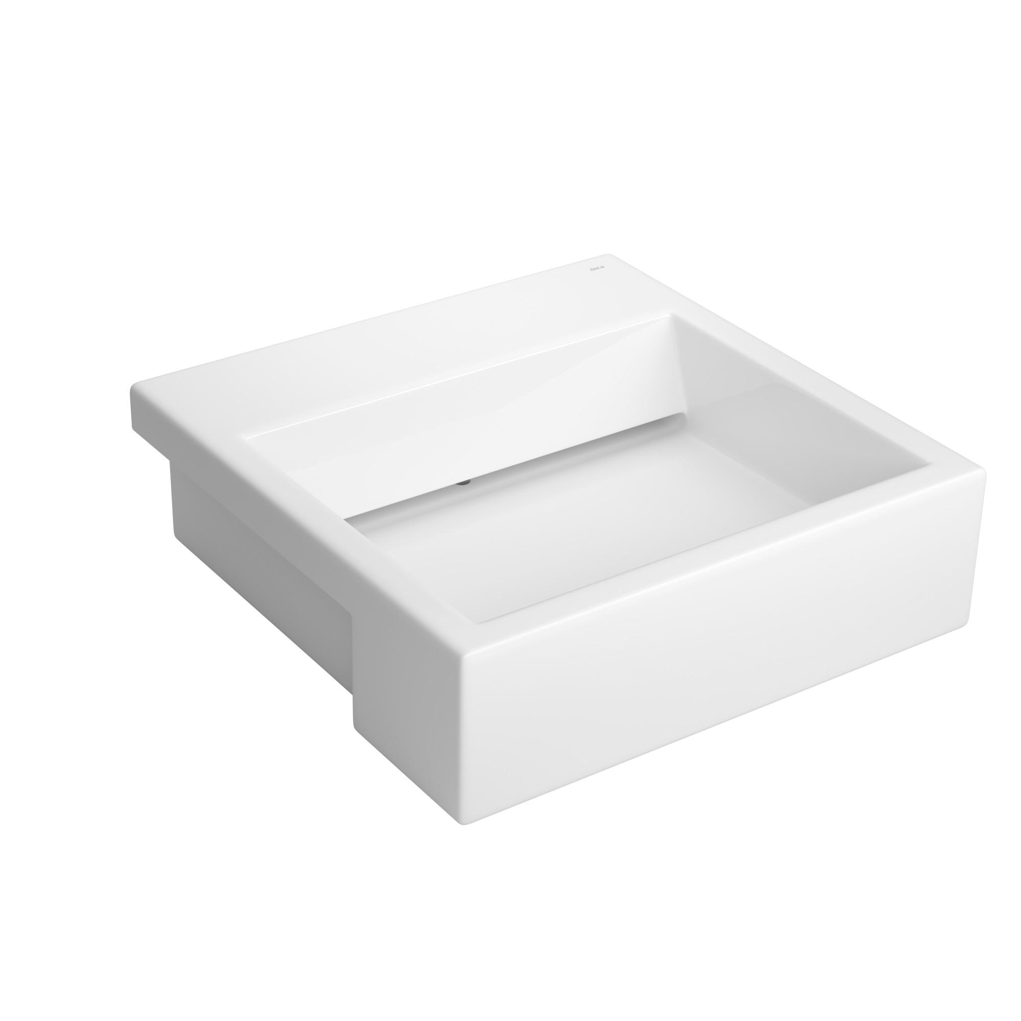 Cuba de Louca Semiencaixe Quadrado 46x46 cm Branco Gelo - L86317 Deca