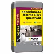 Argamassa para Porcelanato Interno Cinza 20kg - Quartzolit