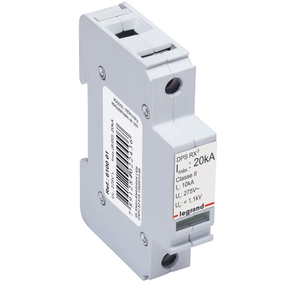 Dispositivo de Protecao contra Surto Eletrico DPS Classe I 20Ka 610001 - Legrand