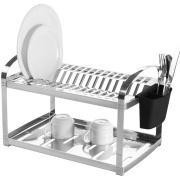 Escorredor de Louças de Aço Inox Polido com Porta Talheres 16 Pratos - Brinox
