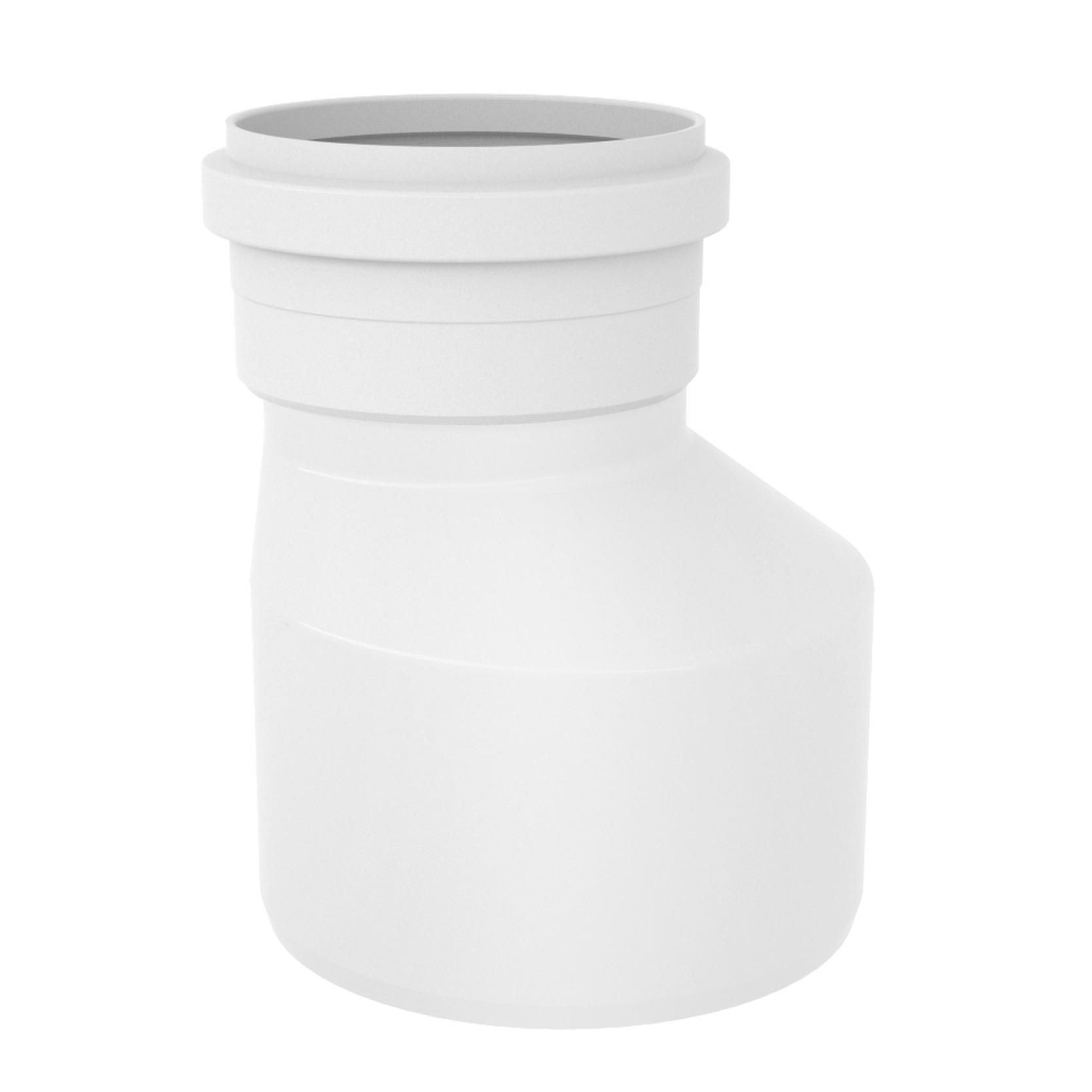 Reducao Excentrica para Esgoto PVC Branco 150 mm x 100 mm - Tigre