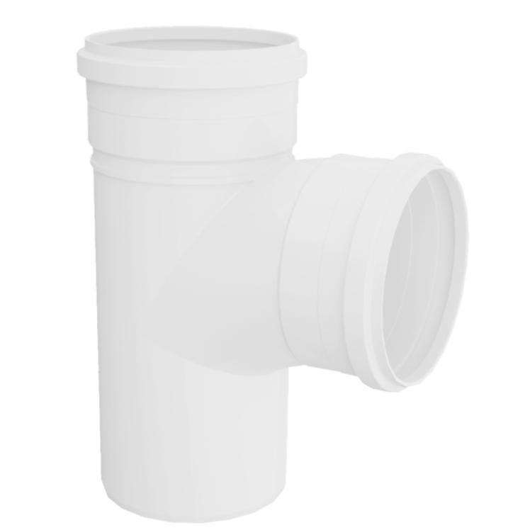 Te Curto para Esgoto PVC Rigido Branco 75 mm x 50 mm - Tigre