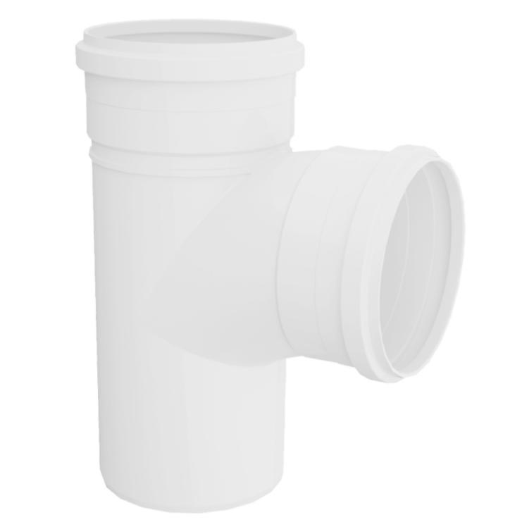 Te Curto para Esgoto PVC Rigido Branco 100 mm x 50 mm - Tigre