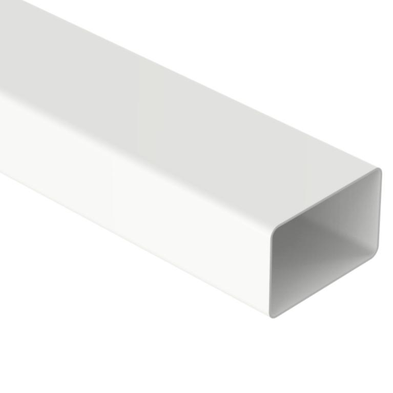 Condutor de PVC Retangular 100 x 65 mm Branco - Aquapluv Tigre
