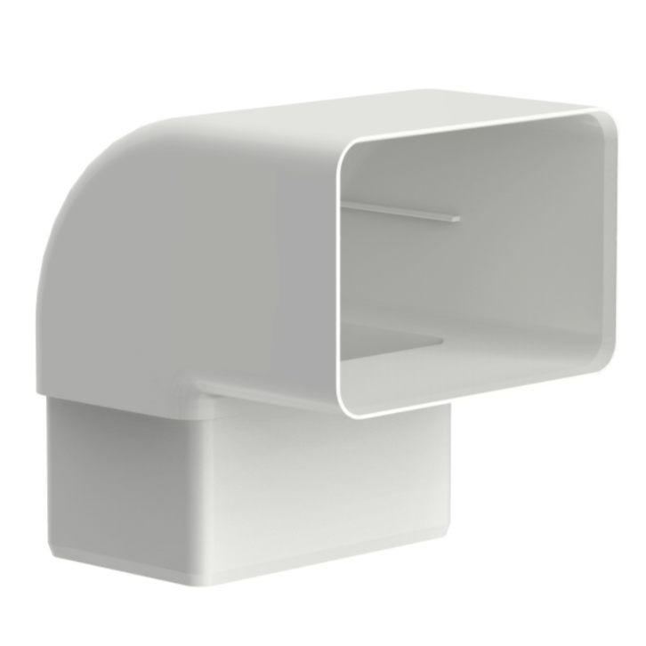 Joelho de PVC Retangular 100 x 65 mm 90 Branco - Aquapluv Tigre
