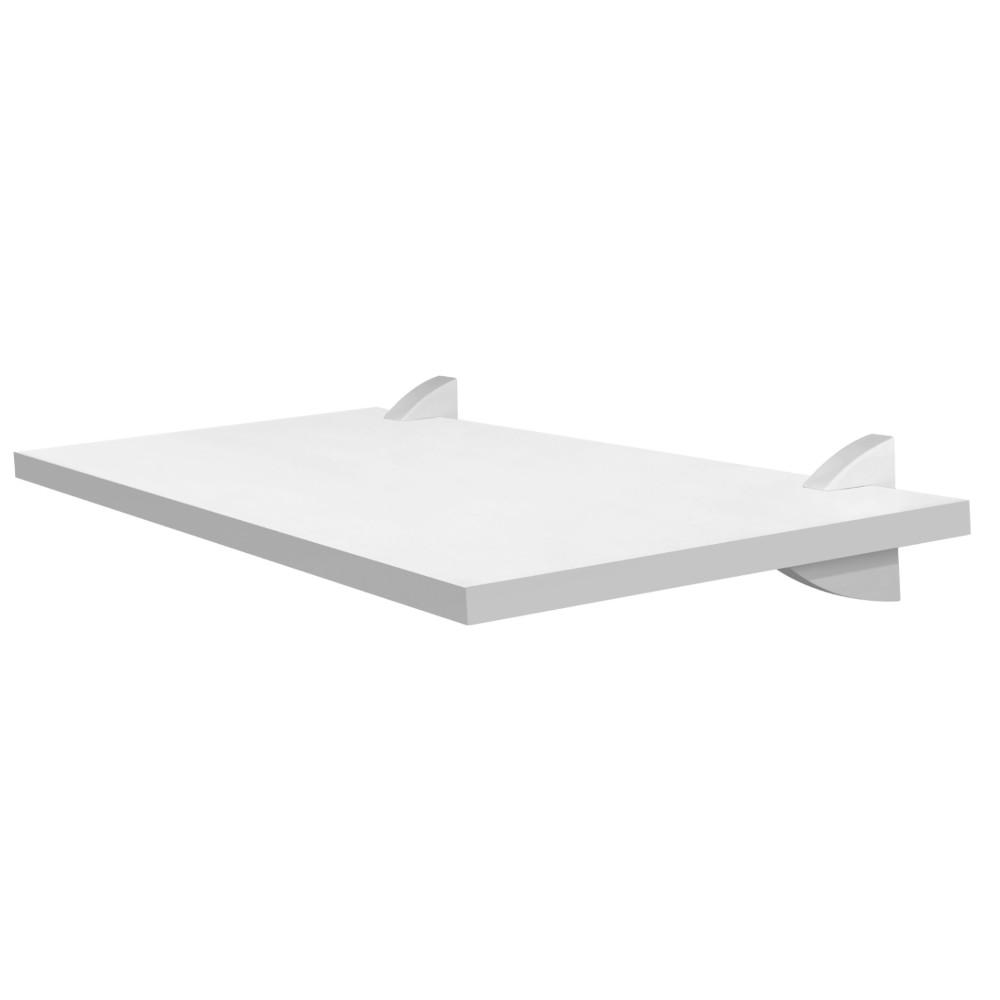 Prateleira MDP com Suporte 40x20cm Concept Branca - Prat-k